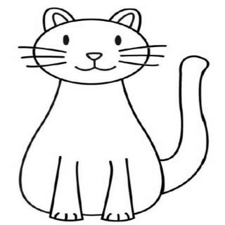 easy coloring pages of cats simple cat drawings clipart best