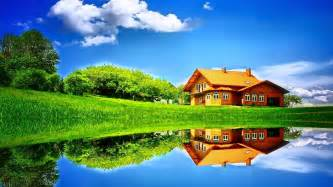 Home Wallpaper Hd Grass Home Sky Hd Wallpapers Large Hd