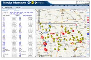 dot road conditions map iowa dot road map