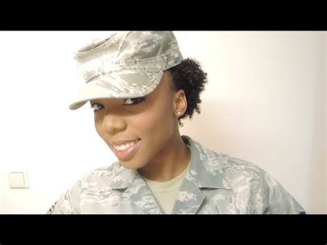 easy hairstyles for military natural hair in the military quick and easy twisted puff