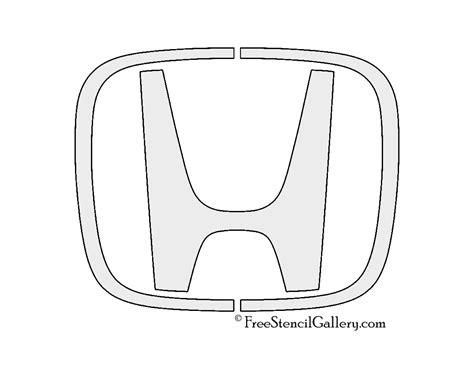 subaru emblem drawing honda logo stencil free stencil gallery
