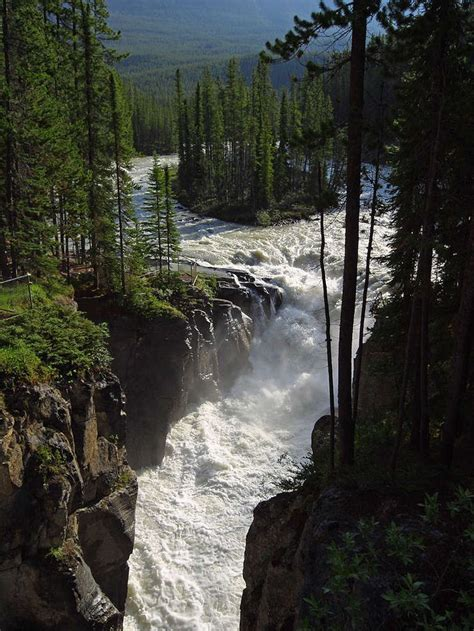 sunwapta falls sunwapta falls jasper canada and god created