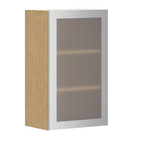 Home Depot Kitchen Cabinet Doors Eurostyle Ready To Assemble 18x30x12 5 In Copenhagen Wall Cabinet In Maple Melamine And Glass