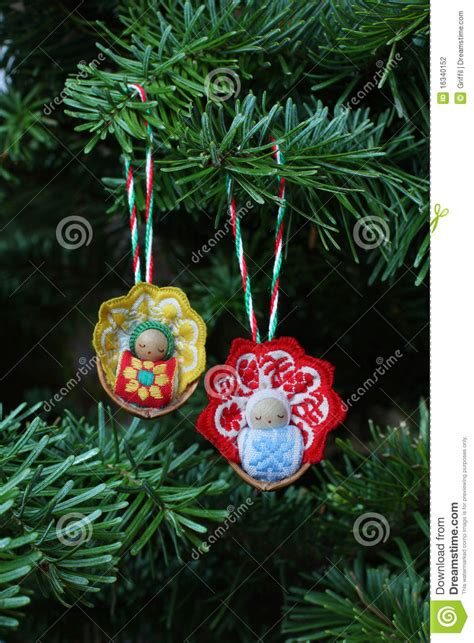 christmas baby tree ornaments stock photo image 16340152