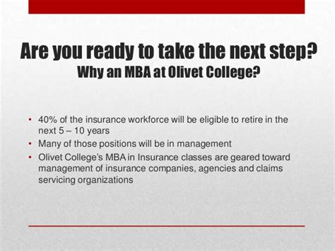 How To Get An Mba In Your 40s by Olivet College Mba In Insurance