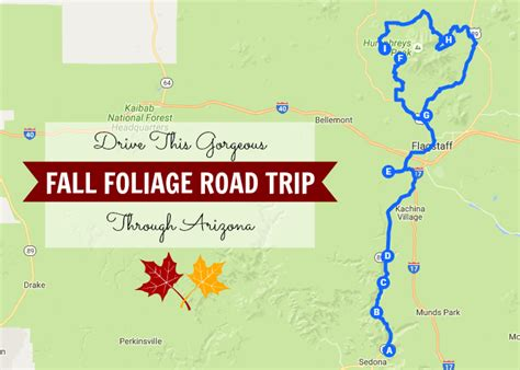 maryland foliage map take this gorgeous fall foliage road trip through arizona