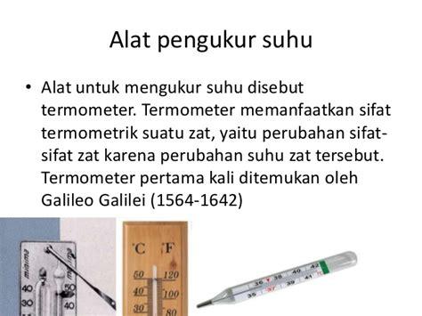 Termometer Pengukur Air temperatur dan jenis jenis termometer