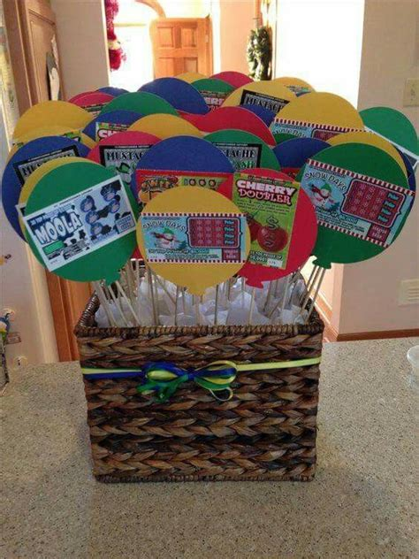 birthday themed raffle basket 35 best lottery ticket basket images on pinterest gift