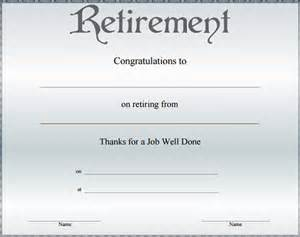 Retirement Template by Doc 585459 Retirement Certificate Template 9