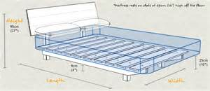 Height Of Bed Frame Floating Bed