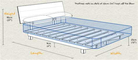 Standard Bed Frame Sizes Floating Bed Space Saver Get Laid Beds