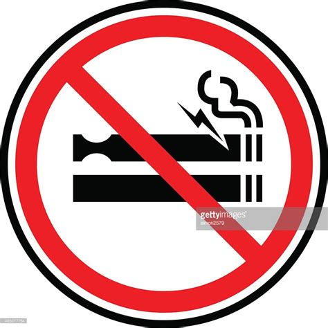 no smoking sign ai no smoking sign icon vector art getty images