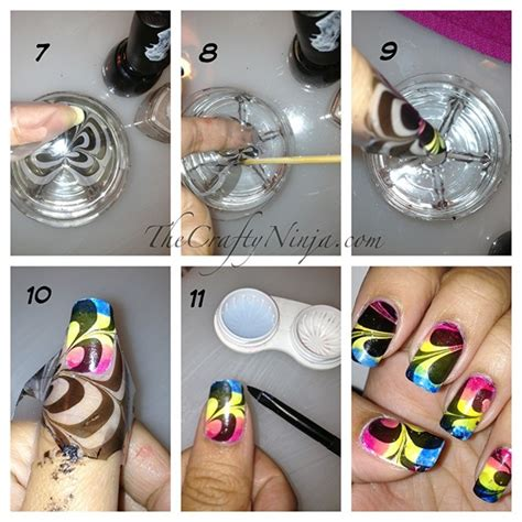 Amazing Water Marble Nail