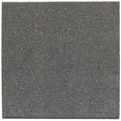 envirotile 18 in x 18 in gray black rubber flat profile