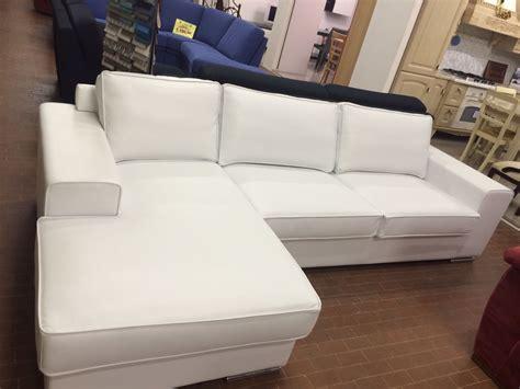 gienne divani divano bianco in pelle con penisola gienne italia divani