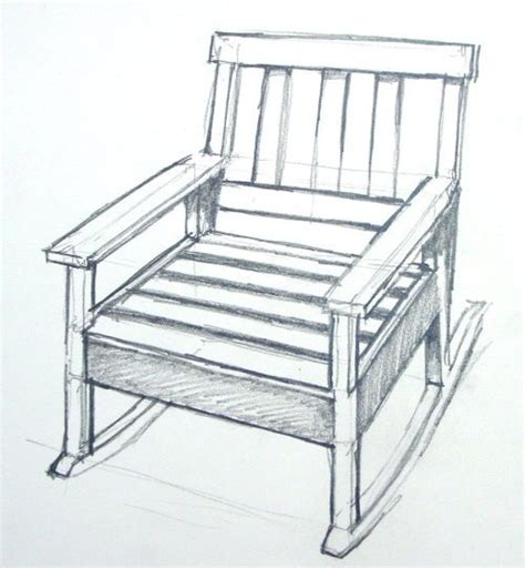 kids rocking chair drawing how to draw rocking chair