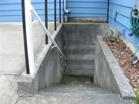 exterior basement stairs rooms