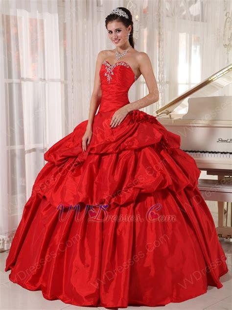 alizarin crimson strapless dress to quinceanear wear