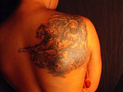 queen tattoo on back aztec tattoos and designs page 222