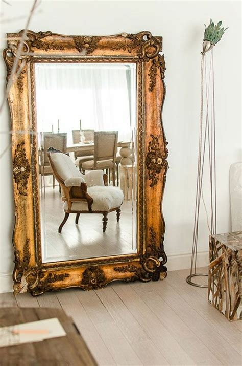 Beau Deco Salle De Bain Blanche #6: grand-miroir-ancien-décoration-murale-avec-miroir.jpg