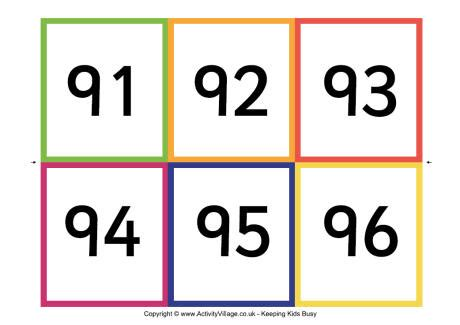 printable numbers cards 1 100 best photos of number cards 1 100 printable number cards