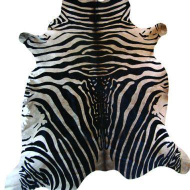 Cowhide Zebra Rug by