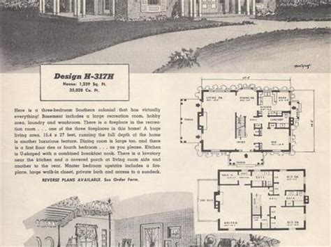 retro ranch house plans vintage ranch house plans