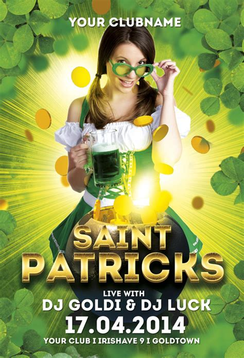 Template St Photoshop | saint patricks free flyer template for photoshop download