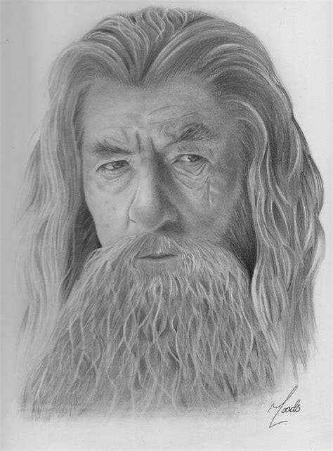 Sir Ian Mckellen as Gandalf the Grey graphite portrait