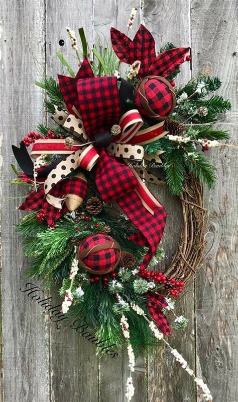holiday baubles rustic christmas wreath dollar store