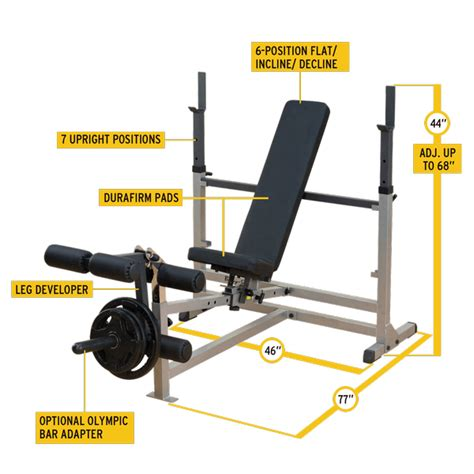 body solid workout bench body solid gdib46l power center combo workout weight bench
