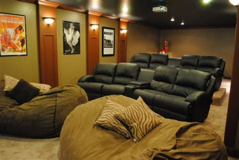 Theater Bean Bags Pretty Oversized Bean Bags In Home Theater Modern With