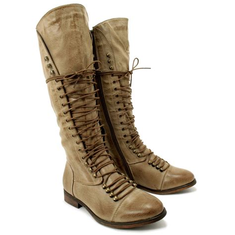 new leather style lace up narrow calf knee boots sz 3 8 ebay