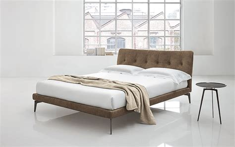 double bed padded headboard double bed with upholstered headboard arca by alivar