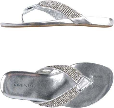 silver clog sandals nine west flip flops clog sandals in silver light grey