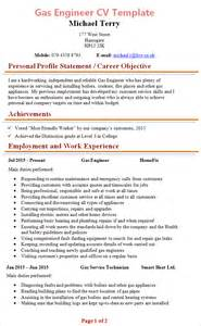 Resume Layout Examples by Gas Engineer Cv Template 1