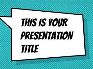 comic template powerpoint free presentation template comicbook style