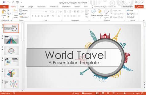 Travel Powerpoint Template Skillzmatic Com Tourism Ppt Templates Free