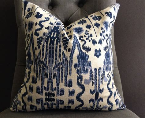 Ikat Pillow Cover pillow cover navy blue ikat pillow cover mumbai by studiopillows