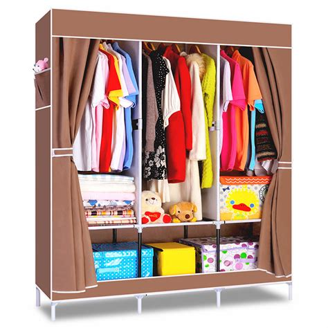 Cloth Wardrobe Closet Yohere Non Woven Folding Fabric Wardrobe Storage Metal
