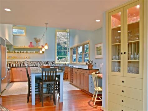 blue and yellow kitchen ideas country style kitchen pictures