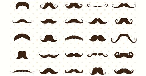 with a mustache mustaches