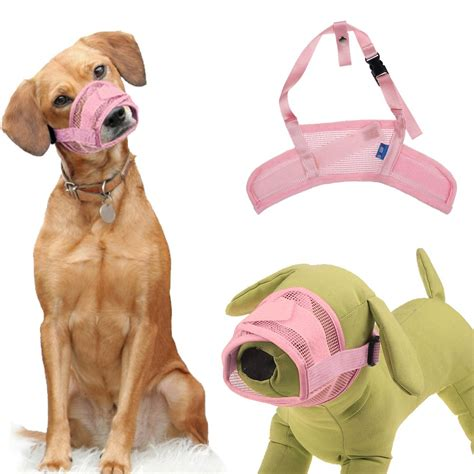 stop puppy nipping pet safety adjustable breathable muzzle stop biting barking nipping chewing ebay