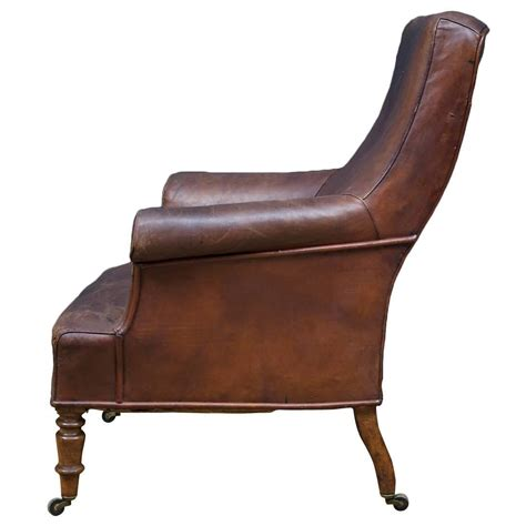 brown leather armchair at 1stdibs