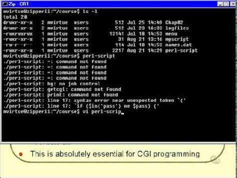 online tutorial unix shell scripting 03 unix shell scripting tutorial running a shell script