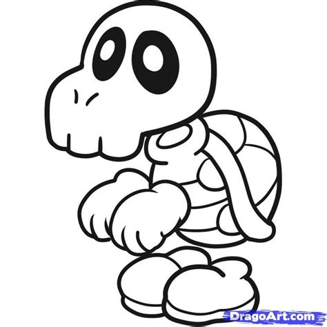 dry bones mario coloring pages coloring home