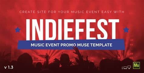 Indiefest Music Event Party Festival Promo Muse Template By Vinyljunkie Event Promo Template Free