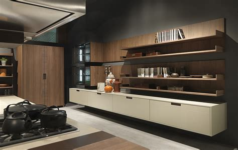 floating cabinets kitchen modern italian kitchen designs from pedini