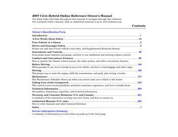 download car manuals pdf free 2007 honda civic parental controls download 2007 honda civic hybrid owner s manual pdf 268 pages