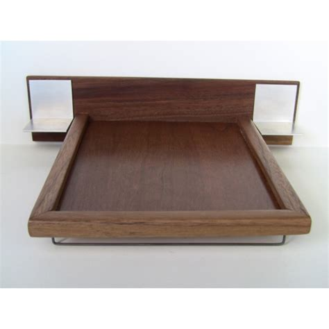 platform bed with nightstands modern dollhouse furniture m112 pods walnut platform